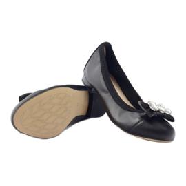 Balerinki damskie kokarda Gamis 1402 czarne 3