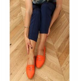 Mokasyny damskie pomarańczowe 4585 Orange 2