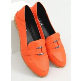 Mokasyny damskie pomarańczowe 4585 Orange 1