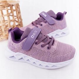 Dziecięce Sportowe Buty Sneakersy Big Star HH374183 Fioletowe 2