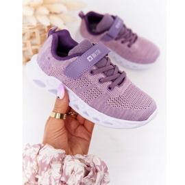 Dziecięce Sportowe Buty Sneakersy Big Star HH374183 Fioletowe 3