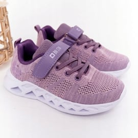 Dziecięce Sportowe Buty Sneakersy Big Star HH374183 Fioletowe 1