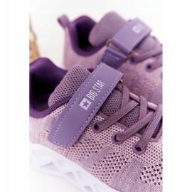 Dziecięce Sportowe Buty Sneakersy Big Star HH374183 Fioletowe 4
