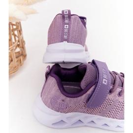 Dziecięce Sportowe Buty Sneakersy Big Star HH374183 Fioletowe 5