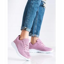 SUPER COOL Lekkie Ażurowe Sneakersy różowe 3