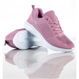 SUPER COOL Lekkie Ażurowe Sneakersy różowe 1