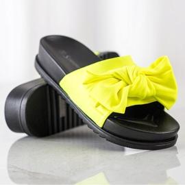 Seastar Klapki Z Kokardą żółte 1