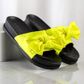 Seastar Klapki Z Kokardą żółte 2