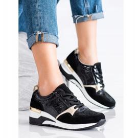 Goodin Wiązane Sneakersy Ze Skóry czarne wielokolorowe 2