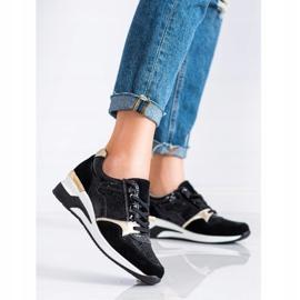 Goodin Wiązane Sneakersy Ze Skóry czarne wielokolorowe 3