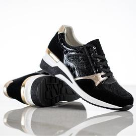 Goodin Wiązane Sneakersy Ze Skóry czarne wielokolorowe 1
