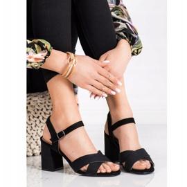 Sandały Na Obcasie VINCEZA czarne 3