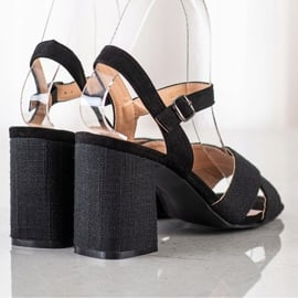 Sandały Na Obcasie VINCEZA czarne 2