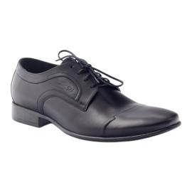 Półbuty skórzane buty męskie Pilpol 1262 czarne 1
