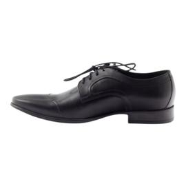 Półbuty skórzane buty męskie Pilpol 1262 czarne 2