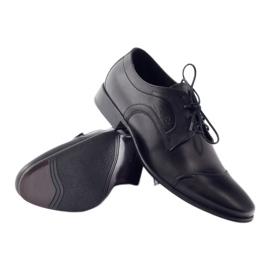 Półbuty skórzane buty męskie Pilpol 1262 czarne 3