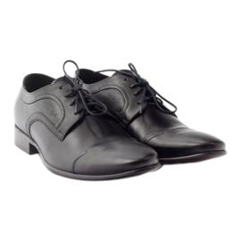 Półbuty skórzane buty męskie Pilpol 1262 czarne 4