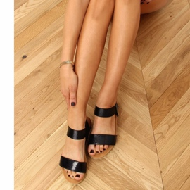Sandałki damskie czarne 38853 Black 3