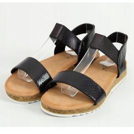 Sandałki damskie czarne 38853 Black 1