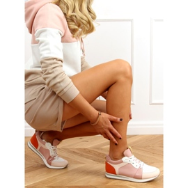 Buty sportowe wielokolorowe B0-546 Pink 4