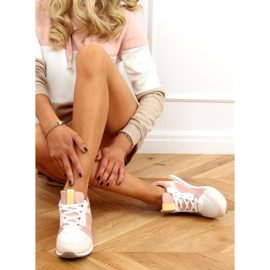 Buty sportowe wielokolorowe B0-546 Pink 5