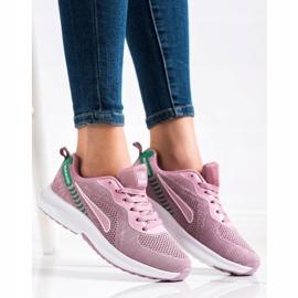 Mckeylor Sznurowane Buty Sportowe różowe zielone 3