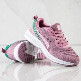 Mckeylor Sznurowane Buty Sportowe różowe zielone 1
