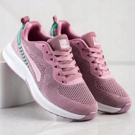 Mckeylor Sznurowane Buty Sportowe różowe zielone 2