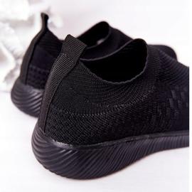EVE Dziecięce Sportowe Buty Slip-On Czarne School Trip 4