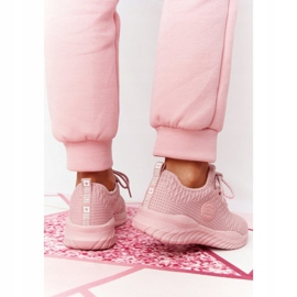 Damskie Sportowe Buty Memory Foam Big Star HH274299 Różowe 5