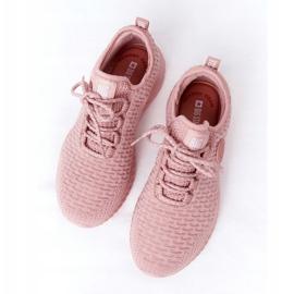 Damskie Sportowe Buty Memory Foam Big Star HH274299 Różowe 6