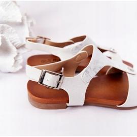 Dziecięce Sandały S.Barski Comfort Srebrne srebrny 4