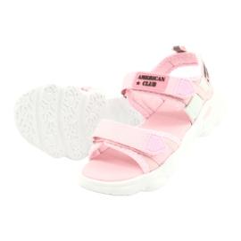 Modne Różowe Sandałki Sport RL32/21 American Club 3