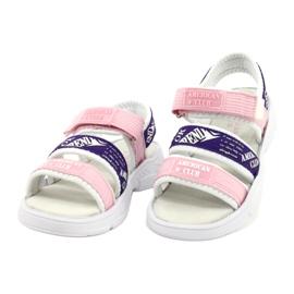 American Club Sandały Sportowe Wkładka Skórzana RL29/21 Pink-Purple białe fioletowe różowe 1