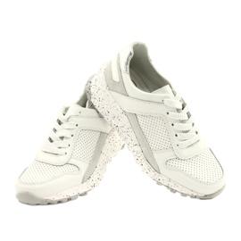 Filippo Slipony buty sportowe skóra FILI PPO DP2008/21 WH białe szare 3