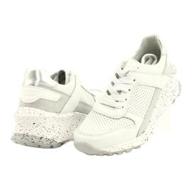 Filippo Slipony buty sportowe skóra FILI PPO DP2008/21 WH białe szare 2