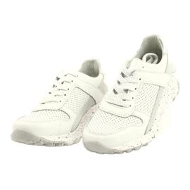 Filippo Slipony buty sportowe skóra FILI PPO DP2008/21 WH białe szare 1