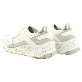 Filippo Slipony buty sportowe skóra FILI PPO DP2008/21 WH białe szare 4