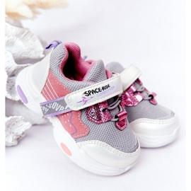 Dziecięce Sportowe Buty Sneakersy Biało-Różowe Space Ride białe szare wielokolorowe 1