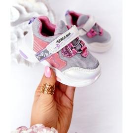 Dziecięce Sportowe Buty Sneakersy Biało-Różowe Space Ride białe szare wielokolorowe 2