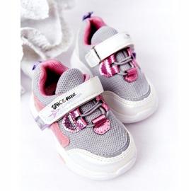 Dziecięce Sportowe Buty Sneakersy Biało-Różowe Space Ride białe szare wielokolorowe 3