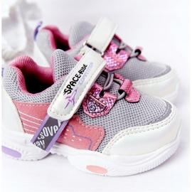 Dziecięce Sportowe Buty Sneakersy Biało-Różowe Space Ride białe szare wielokolorowe 4