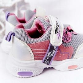 Dziecięce Sportowe Buty Sneakersy Biało-Różowe Space Ride białe szare wielokolorowe 5