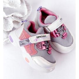 Dziecięce Sportowe Buty Sneakersy Biało-Różowe Space Ride białe szare wielokolorowe 6