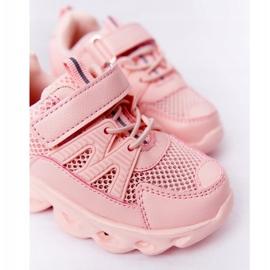 Dziecięce Sneakersy Ze Świecącą Podeszwą Led Różowe So Cool! 3
