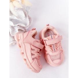 Dziecięce Sneakersy Ze Świecącą Podeszwą Led Różowe So Cool! 5