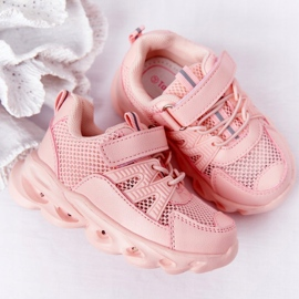 Dziecięce Sneakersy Ze Świecącą Podeszwą Led Różowe So Cool! 6