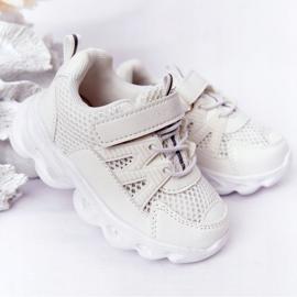 Dziecięce Sneakersy Ze Świecącą Podeszwą Led Białe So Cool! 2