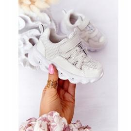Dziecięce Sneakersy Ze Świecącą Podeszwą Led Białe So Cool! 4