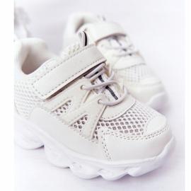 Dziecięce Sneakersy Ze Świecącą Podeszwą Led Białe So Cool! 5